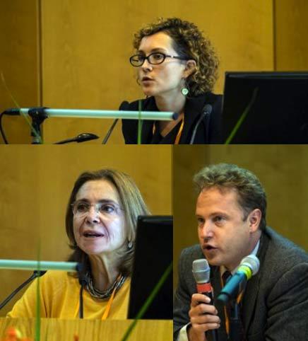 Katarzyna Szkuta, and Koen Jonkers, EC DG JRC, with Professor Elena Tsipouri, University of Athens