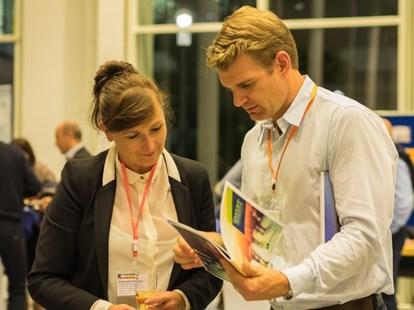 Dr Emanuela Todeva, Chair of the Scientific Committee with Todd Williams. CEO. Hunter Regional Development Australia
